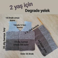 """2,343 Beğenme, 83 Yorum - Instagram'da @el_eemegigoznuru: """"Merhaba Arkadaşlar.. Yine bir degrade tarifle karşınızdayım.. TARİF…"""" Baby Sweater Knitting Pattern, Sweater Knitting Patterns, Baby Kids, Baby Boy, Moda Emo, Knit Vest, Applique Quilts, Baby Sweaters, Handmade Home"""