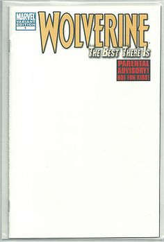 WOLVERINE THE BEST THERE IS Great 1/15 blank VARIANT from Marvel! ~NM~ http://r.ebay.com/TnRpja