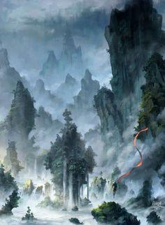 【侵刪】 我的心中有座山,带小和尚去看看。 #西游记之大圣归来#大圣水龙头#插画#手绘#同人#二次元# @徐超渊YUAN