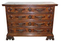 A 16th Century Tuscan Walnut and Tortoiseshell Bureau Commode - C. Mariani Antiques, Restoration & Custom, San Francisco, CA.