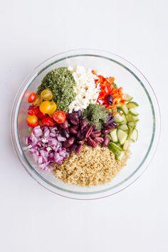 Greek Quinoa Salad Soooooo good, y'all!