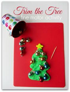 christmas fine motor activity for kids