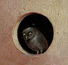 И.Босх.Сад земных наслаждений. The Owl  [Bosch, Garden of Earthly Delights, c. 1500]