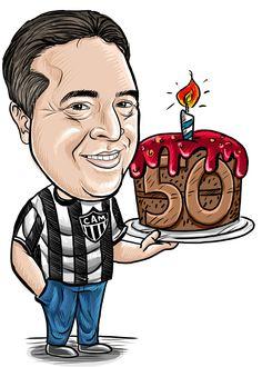 Caricaturas para aniversário. Um presente criativo e perfeito para decoração de festas. http://www.caricaturabh.tumblr.com  http://www.facebook.com/caricaturabh