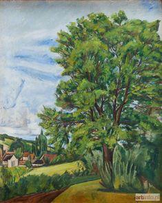 Szymon (Simon, Szmaj) MONDZAIN ● Pejzaż z drzewem , 1922 r.