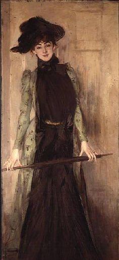 Portrait of Anna Elisabeth Hansen (Detail) Giovanni Boldini 1902 Giovanni Boldini was an Italian genre and portrait painter, belonging to the Parisian school.