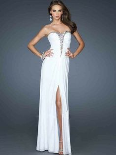Sleeveless Sheath/Column Sweetheart Floor-length Beading Chiffon Dress