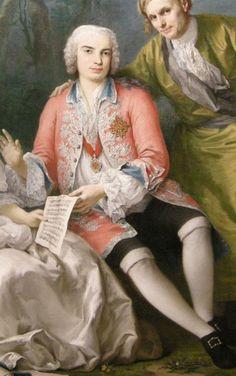 Carlo Broschi (Farinelli) born 24.1.1705, portrait by Jacopo Amigoni, c. 1750-1752.