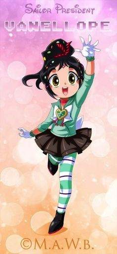 Vanellope - Disney Heroines As Sailor Moon Characters