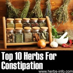Herbs for Constipation - detailed list with research, references and background info.