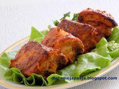 Żeberka pieczone z piekarnika Tandoori Chicken, Grilling, Turkey, Ethnic Recipes, Heavenly, Food, Diet, Turkey Country, Crickets