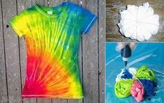 DIY Rainbow T-Shirt  #diy #rainbow #color #fashion