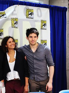 Merlin // Colin Morgan and Angel Coulby at SDCC 2012.