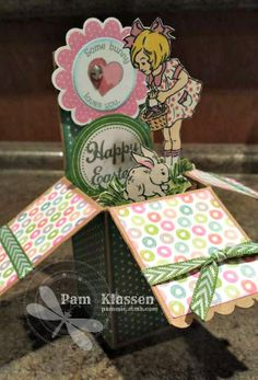 Close To My Heart Products including hostess stamp set Happy Easter Card in a Box pammie.ctmh.com