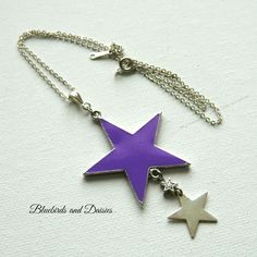 Lilac Star Necklace - The Supermums Craft Fair