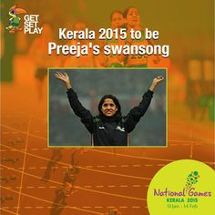 Arjuna awardee and long-distance runner Preeja Sreedharan, who won a gold and a silver at the 2010 Asiad, has announced her retirement after the National Games.