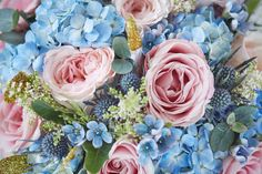 14 ideas for your 'something blue' Something Blue Wedding, Something Old, Pink Rose Bouquet, Blue Hydrangea, Peonies, Wedding Bouquets, Daisy, Finding Yourself, Wedding Inspiration