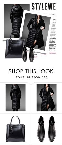 """""""OOTD - Black Coat"""" by by-jwp ❤ liked on Polyvore"""