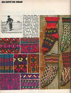 Iranian knitting Il s'agit du n° 24 de 100 Idées, d'octobre 1975.