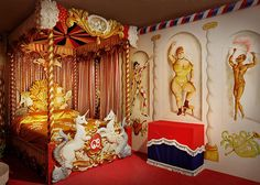Cecil Beaton's Circus Bed recreated by Beaudesert beds