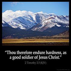 2 Timothy 2:3 Inspirational Image