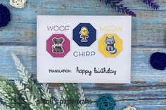 lawn fawn «pets wishing happy birthday Lawn Fawn, Cardmaking, Happy Birthday, Paper Crafts, Pets, Happy Aniversary, Animals And Pets, Making Cards, Happy B Day