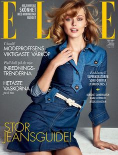 Frida Gustavsson for Elle Sweden April 2015.