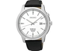 SEIKO Neo Classic Silver Leather Man SKA743P1 Calendar * Want to know more, click on the image. This Amazon pins is an affiliate link to Amazon.