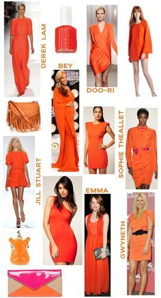 oranges and tangerine.. trends for spring 2012