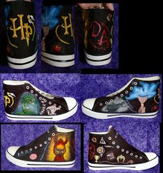 Hand painted by me,Harry Potter sneakers.