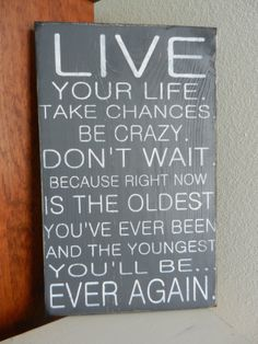 Live your Life www.charliebsdesigns.etsy.com