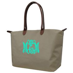 Personalized Large Khaki weekeneder/Shopping Bag/Tote Bag/handbag by sewsassybootique on Etsy Large Tote, Tote Purse, Travel Bag, Shopping Bag, Reusable Tote Bags, Monogram, Purses, Trending Outfits, My Style