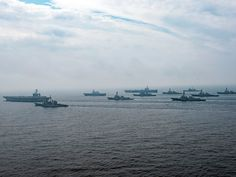 Watch 2 US Navy carrier strike groups conduct a massive show of force toward North Korea