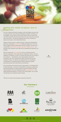 John Paul Dejoria | JPs Peace Love & Happiness Foundation | http://peacelovehappinessfoundation.org