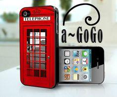iPhone 4, iPhone 5, Samsung S3, Samsung S4 case London Phone Box Design, custom cell phone case