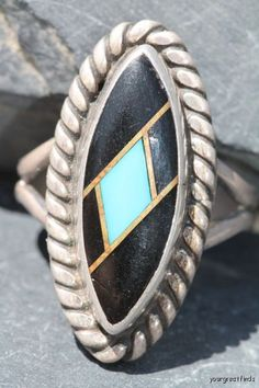 Vintage Signed Navajo Style Sterling Silver by Yourgreatfinds