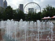 Free Fun in Atlanta - Things to do in Atlanta Georgia - Free Attractions in Downtown Atlanta Centennial Olympic Park #BayouTravel