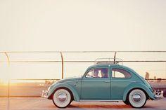 VW Beetle Light Blue