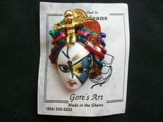 $9.00 Gore's Art Made in the Ghetto New Orleans Pin 1999 (51615-999) collectibles, art #Handmade