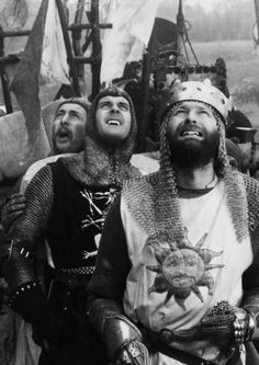 """John Cleese and Graham Chapman ~ """"Monty Python and the Holy Grail"""" (1975)"""