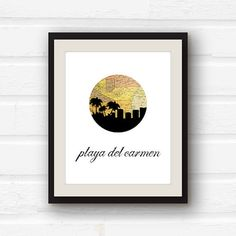 Mexico art // Playa del Carmen //travel decor by PaperFinchDesign
