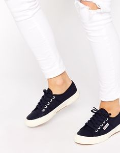 Enlarge Superga 2750 Classic Navy Plimsoll Trainers
