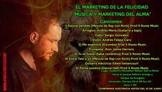 """Kinestesia, Neuro Marketing, Música y relaciones empresariales en pro de la cultura y la música. Conferencia de marketing digital musical avanzado TOTALMENTE GRATIS. Lanzamiento de mi disco """"MESTIZO""""."""