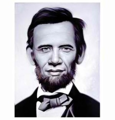 Obama. Lincoln. By Ron English