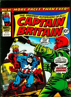 Captain Britain Vol. 1 / 25; Captain Britain, Captain America, Redskull and London