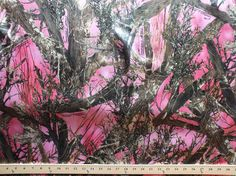 True Timber Bridal Pink MC2 Camo Camouflage Satin by fieldsfabrics, $9.95