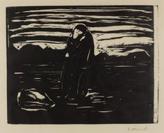 laclefdescoeurs:  Kiss in the Field, 1905, Edvard Munch