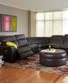 Alessandro Leather Sectional Living Room Furniture Collection Macys Com