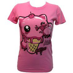 Newbreed Girl Kittikone T-Shirt ($30) ❤ liked on Polyvore featuring tops, t-shirts, shirts, newbreed girl, t shirts, purple shirt, purple t shirt and purple top