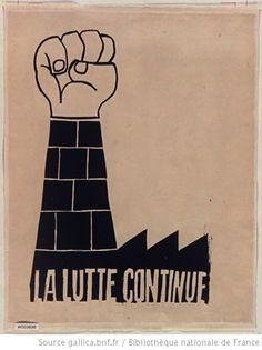 La lutte continue, 1968 Atelier Populaire